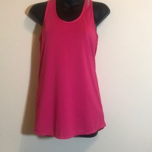 Reebok Racerback Tank Top Pink and Wh…